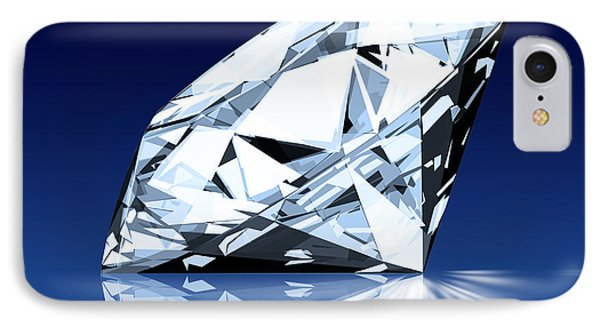 Single Blue Diamond IPhone Case