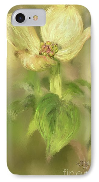 Single Dogwood Blossom In Evening Light IPhone Case by Lois Bryan
