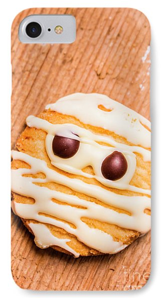 Single Homemade Mummy Cookie For Halloween IPhone Case by Jorgo Photography - Wall Art Gallery