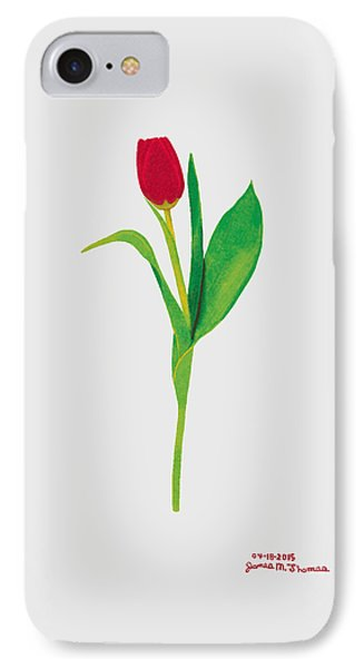 Single Red Tulip Phone Case by James M Thomas