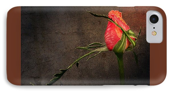 Single Rose IPhone Case by Ann Lauwers