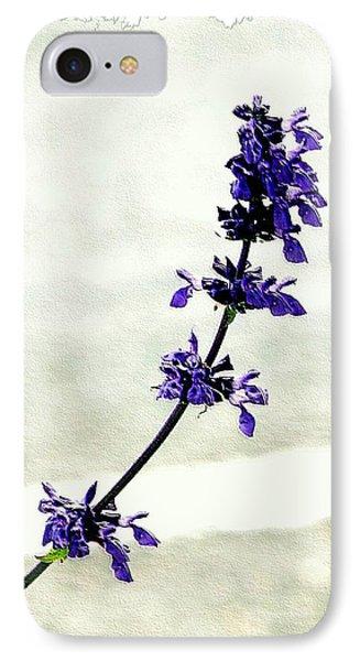 IPhone Case featuring the photograph Single Stem Bluebonnet by Ellen O'Reilly