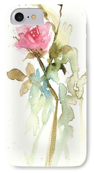 IPhone Case featuring the painting Single Stem by Sandra Strohschein