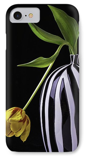 Single Tulip In Vase IPhone Case by Garry Gay