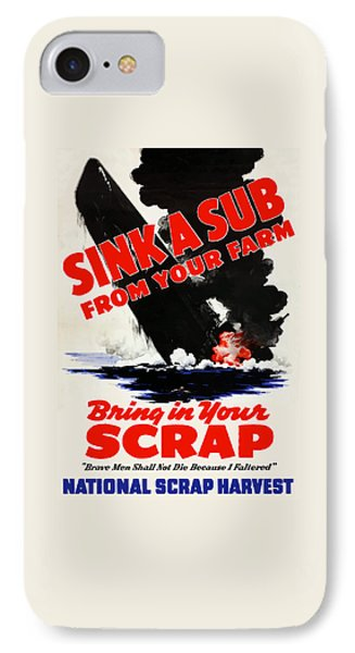 Sink A Sub From Your Farm IPhone Case by War Is Hell Store