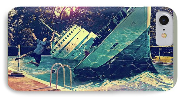 Sinking Into The Pool IPhone Case by Marian Voicu