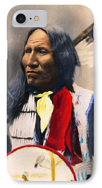 Sioux Chief Portrait IPhone Case by Georgiana Romanovna