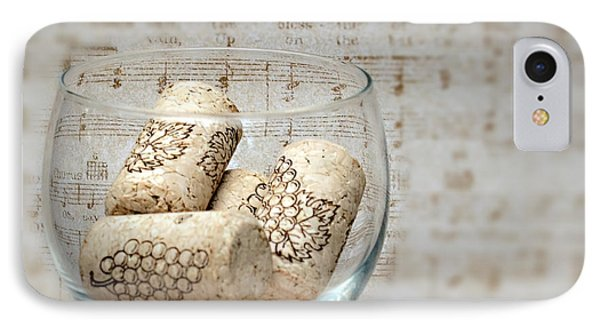 Sipping Wine While Listening To Music IPhone Case by Sherry Hallemeier