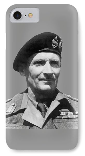 Sir Bernard Law Montgomery  Phone Case by War Is Hell Store