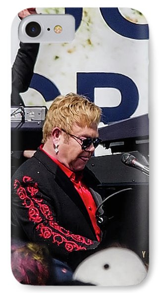 Sir Elton John IPhone Case by Rebecca Dru