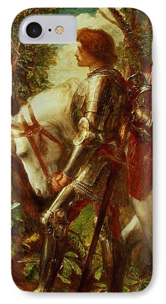 Sir Galahad IPhone Case by George Frederic Watts