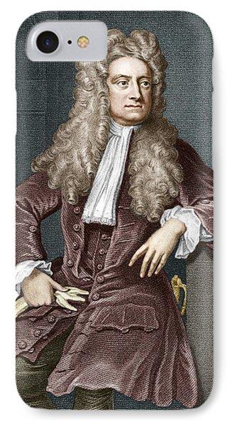 Sir Isaac Newton, British Physicist Phone Case by Sheila Terry