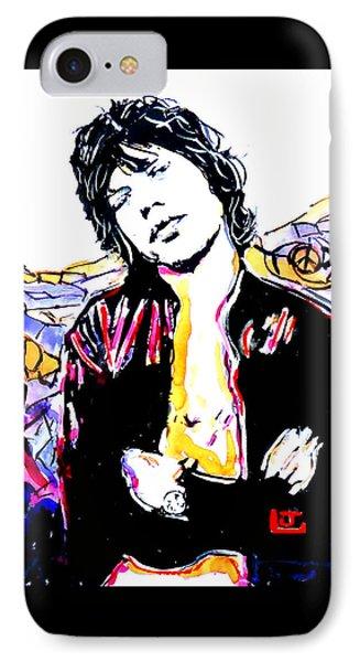 Sir Mick Jagger IPhone Case by John Leclerc
