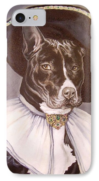 IPhone Case featuring the painting Sir Pibbles by Laura Aceto