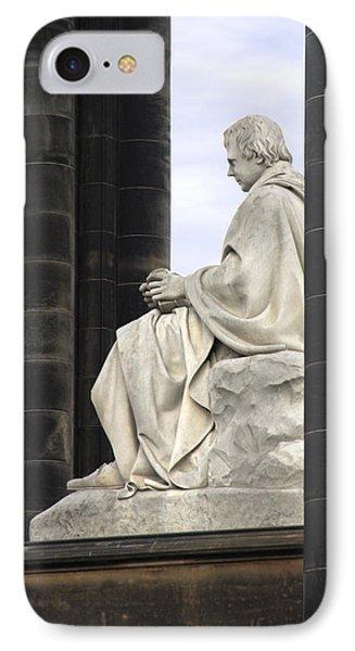 Sir Walter Scott Statue Phone Case by Mike McGlothlen