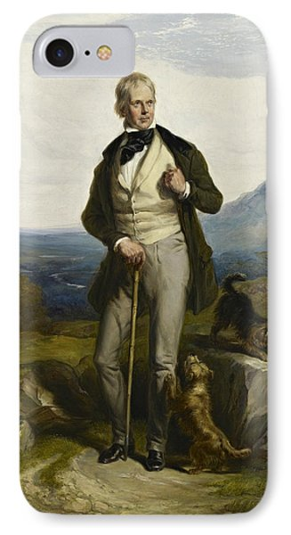 Sir Walter Scott IPhone Case by William Allan