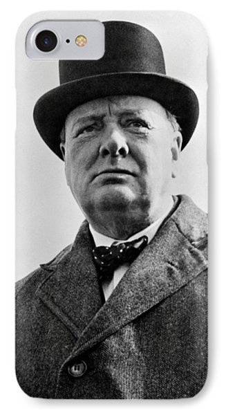Sir Winston Churchill IPhone Case by War Is Hell Store