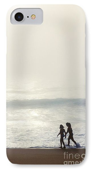 Sisters By The Seashore IPhone Case by Carlos Caetano