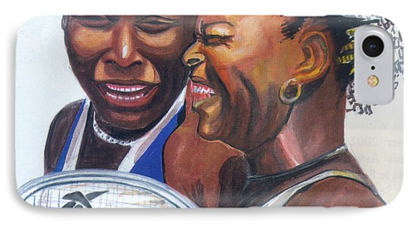 Sisters Williams IPhone 7 Case by Emmanuel Baliyanga