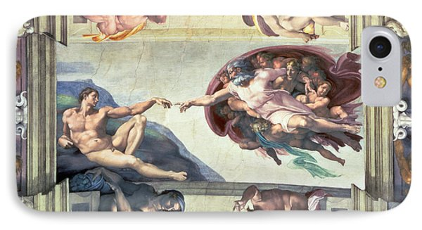 Sistine Chapel Ceiling Creation Of Adam Phone Case by Michelangelo