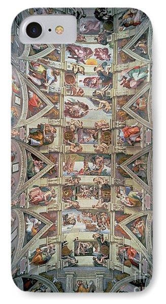 Sistine Chapel Ceiling IPhone Case by Michelangelo