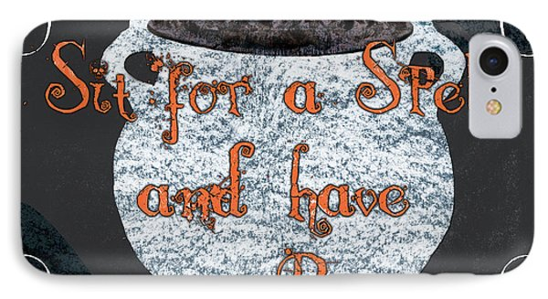 Sit For A Spell IPhone Case by Debbie DeWitt