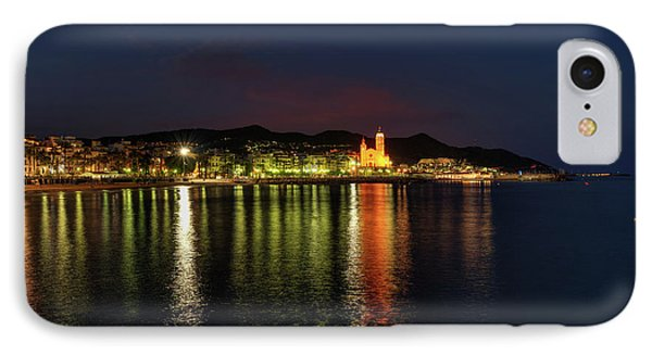 IPhone Case featuring the photograph Sitges Night 001 by Lance Vaughn