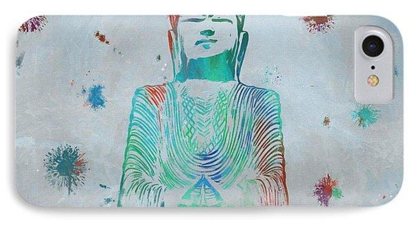Sitting Buddha Paint Splatter IPhone Case