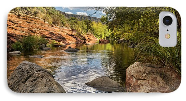 IPhone Case featuring the photograph Sitting Creekside Oak Creek  by Saija Lehtonen