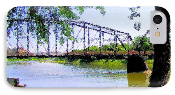 IPhone Case featuring the photograph Sitting In Fort Benton by Susan Kinney