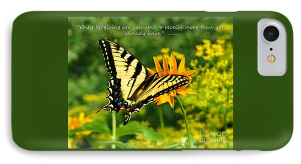 IPhone Case featuring the photograph Sitting Pretty Giving by Diane E Berry