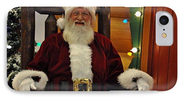 Sitting Santa Claus IPhone Case by Teresa Blanton