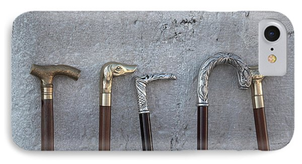 Siver And Bronze Walking Sticks IPhone Case