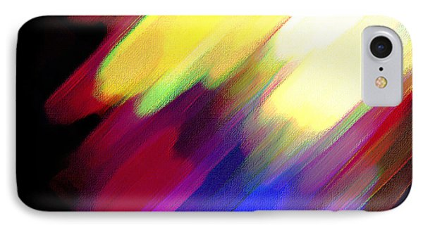 IPhone Case featuring the painting Sivilia 1 Abstract by Donna Corless