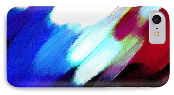 IPhone Case featuring the painting Sivilia 12 Abstract by Donna Corless