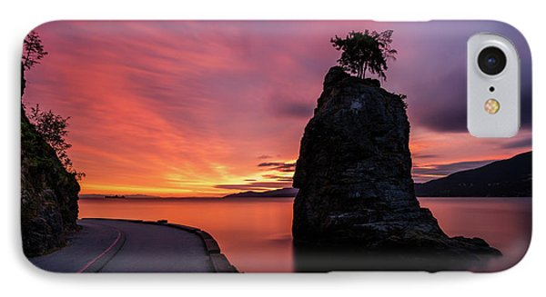 IPhone Case featuring the photograph Siwash Rock Along The Sea Wall by Pierre Leclerc Photography
