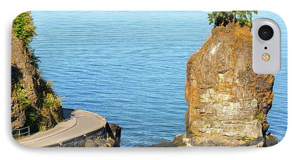 Siwash Rock By Stanley Park Seawall Phone Case by David Gn