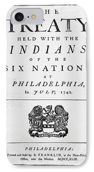 Six Nations Treaty, 1742 Phone Case by Granger