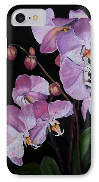 IPhone Case featuring the painting Six Orchids by Sandra Nardone
