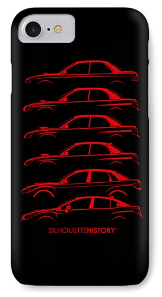 Six Stars No-wing Silhouettehistory IPhone Case by Gabor Vida