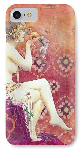 IPhone Case featuring the mixed media Size Matters Da by Desiree Paquette