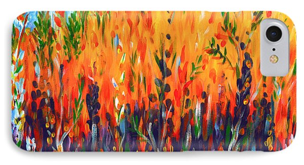 IPhone Case featuring the painting Sizzlescape by Holly Carmichael