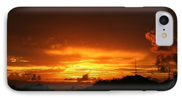 IPhone Case featuring the photograph Sizzling Sunset by The Art of Alice Terrill