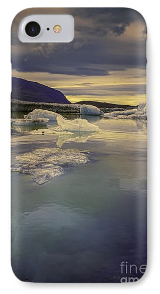 Skaftafellsjokull Lagoon IPhone Case