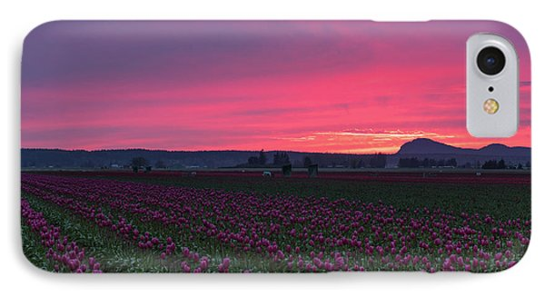 IPhone Case featuring the photograph Skagit Valley Burning Skies by Mike Reid