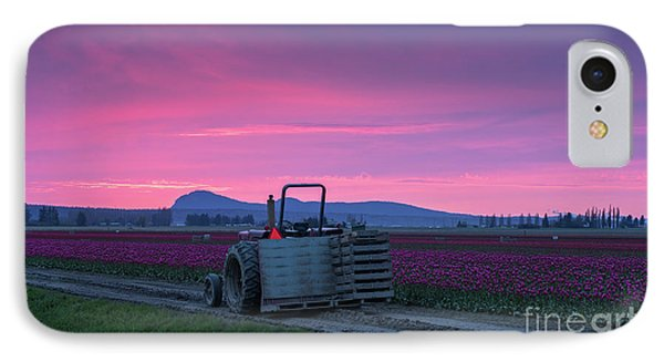 IPhone Case featuring the photograph Skagit Valley Dusk Calm by Mike Reid
