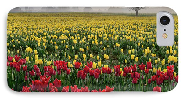 IPhone Case featuring the photograph Skagit Valley Misty Morning by Dan Mihai