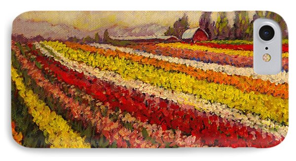 Skagit Valley Tulip Field IPhone Case by Charles Munn