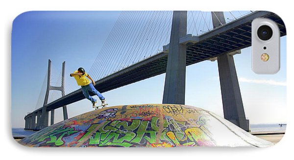 Skate Under Bridge IPhone Case by Carlos Caetano