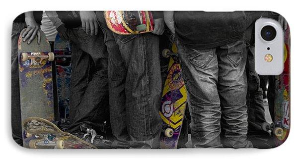Skateboarders IPhone Case by Stelios Kleanthous